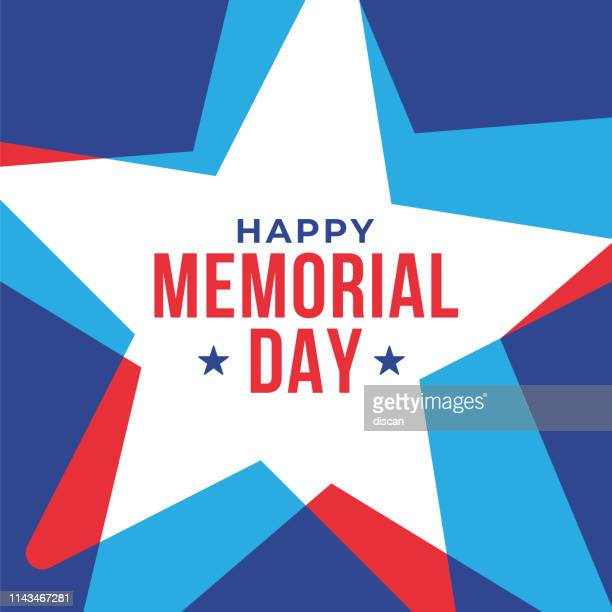 memorial day with stars in national flag colors. - war memorial holiday stock illustrations