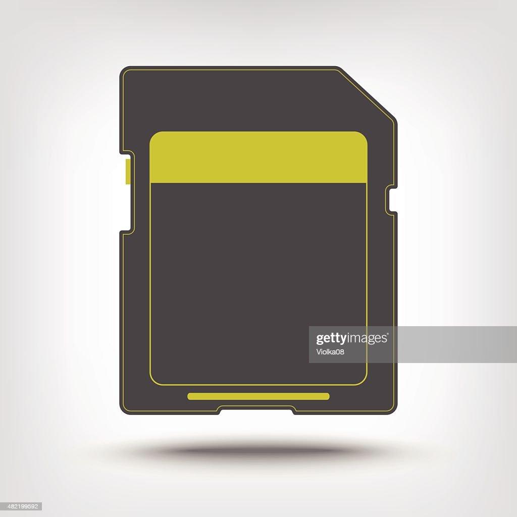 SD memory card icon
