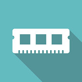 RAM Memory cards vector illustration