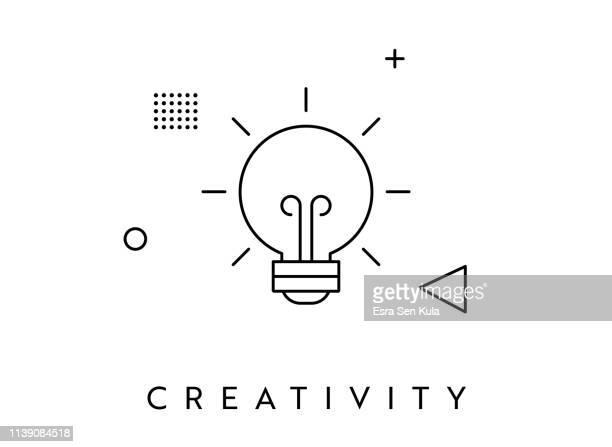 illustrations, cliparts, dessins animés et icônes de icône de memphis style ampoule unique - touche de clavier