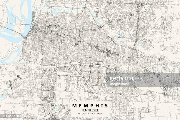 memphis, tennessee, united states of america vector map - memphis tennessee stock illustrations