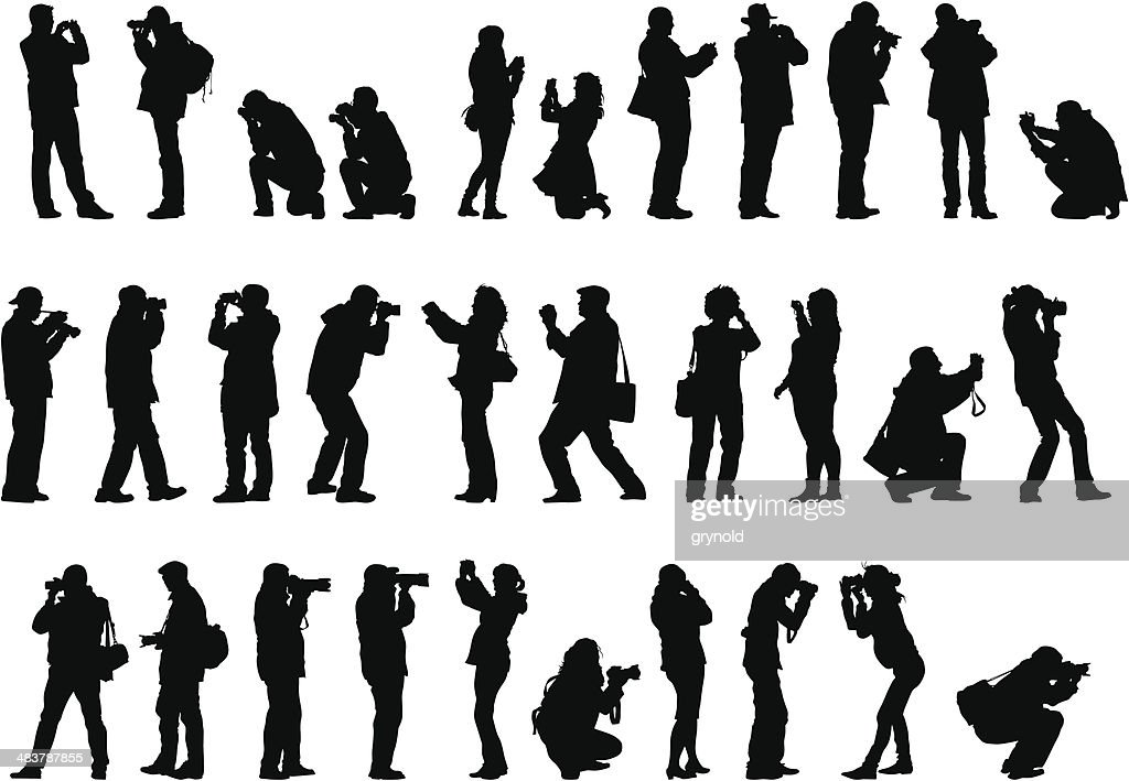 Men and woman with camera