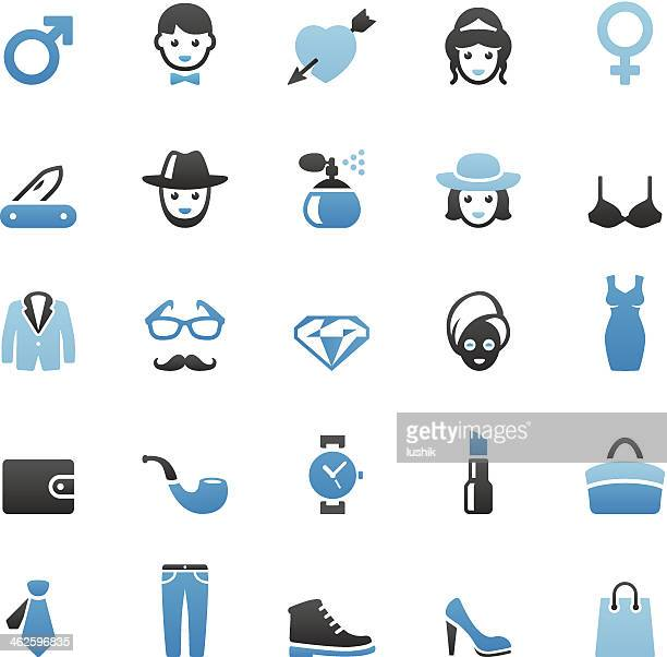 Men and Women icons set