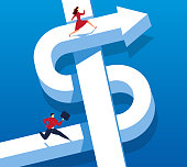 Men and women struggling to earn money