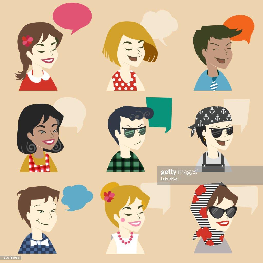Men and women user icon