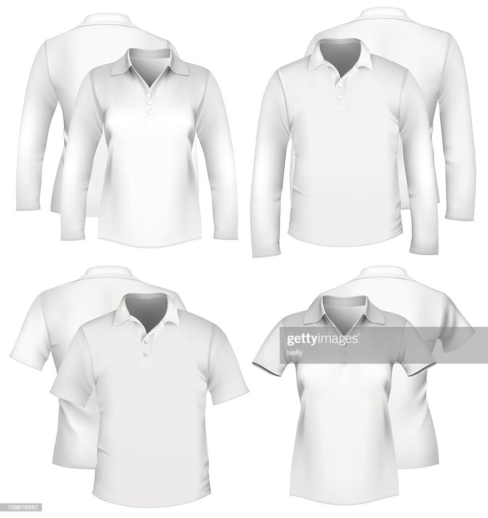 Men and women white shirt designs