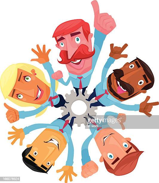 men cheering - sticking out tongue stock illustrations, clip art, cartoons, & icons