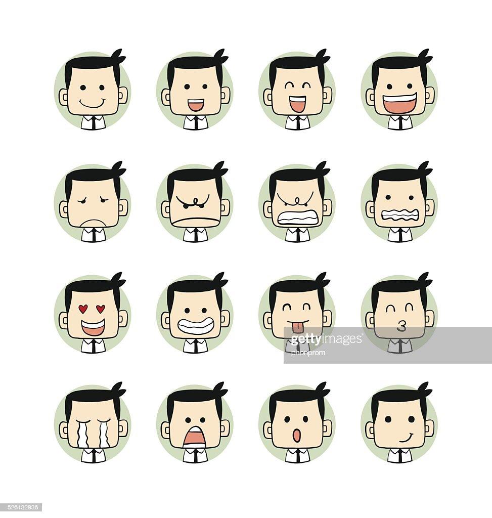 Men emotions faces