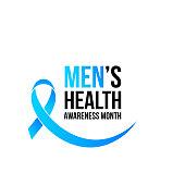 Men health man prostate cancer awareness November month vector blue ribbon