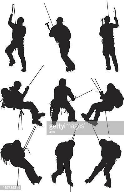 Men ice climbing