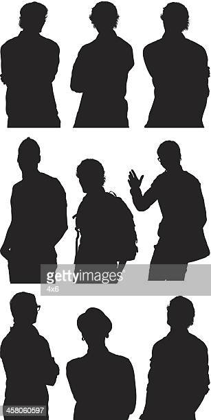 men in casual wear - waist up stock illustrations, clip art, cartoons, & icons