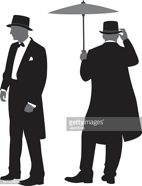 Men in Tuxedos Silhouettes 2