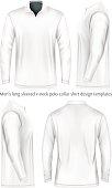 Men long sleeve polo shirt .