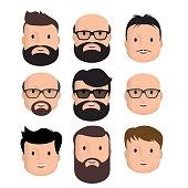Men Male Human Face