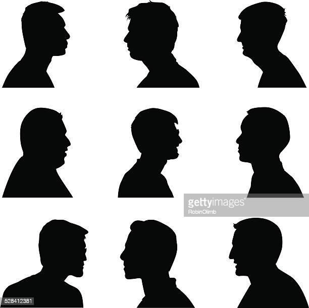Men Silhouette Profiles