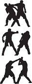 Men sparring mixed martial arts