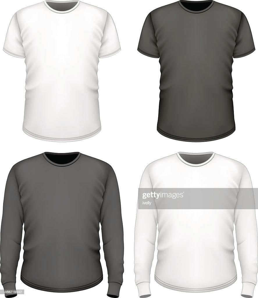 Men t-shirt short and long sleeve