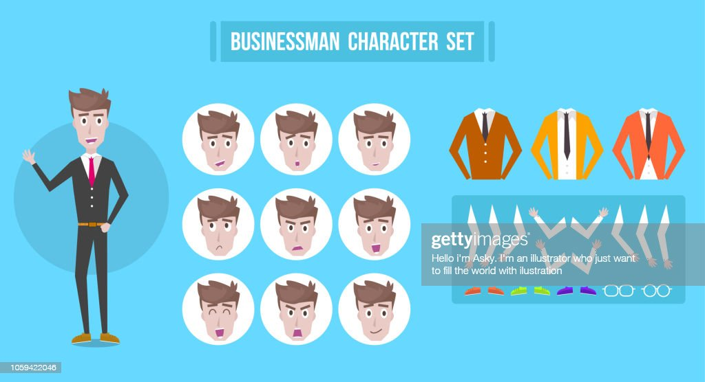 Men vector set