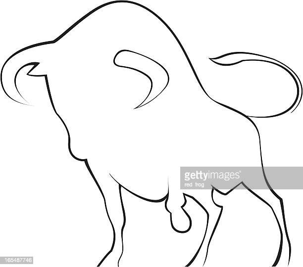menacing bull - animals charging stock illustrations, clip art, cartoons, & icons