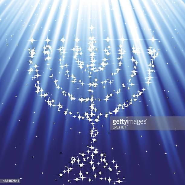 menorah - hanukkah stock illustrations, clip art, cartoons, & icons