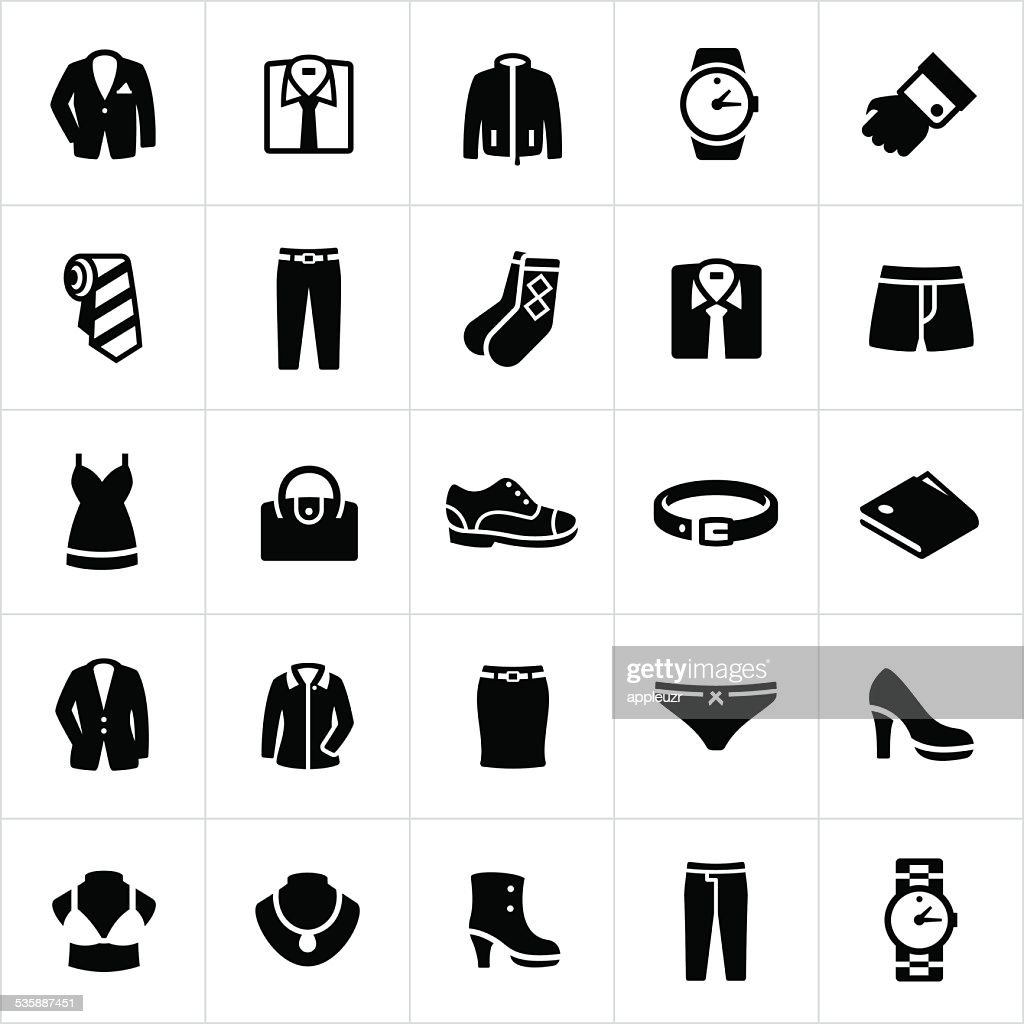 Mens and Womans Formal Wear Icons : stock illustration