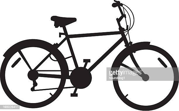 stockillustraties, clipart, cartoons en iconen met men's bike - men
