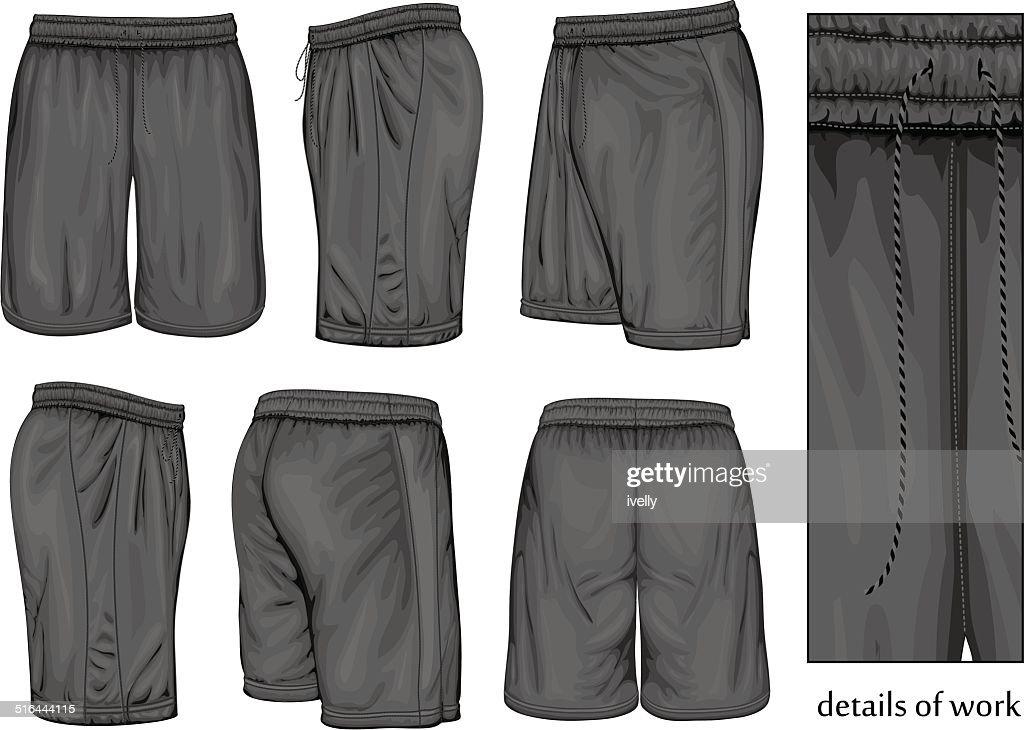 Men's black sport shorts.