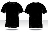 Men's BlackT-Shirt Vector