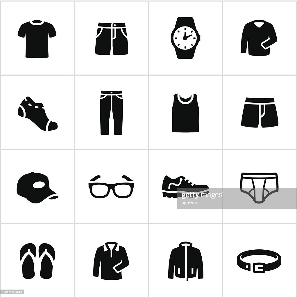 Mens Casual Wear Icons