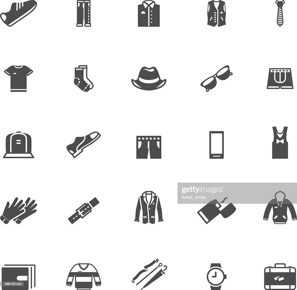 Men's clothing and , icons