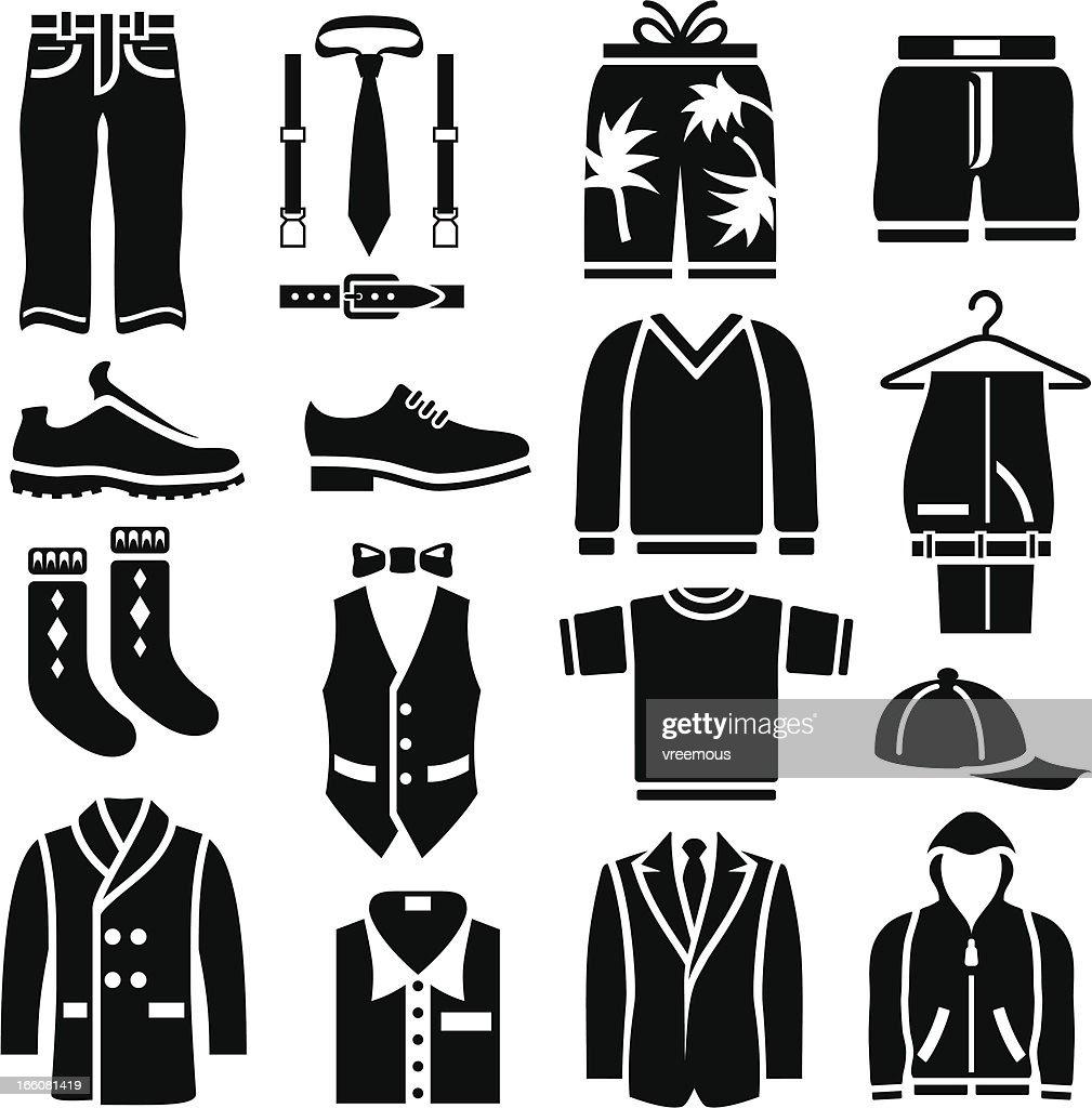 Men's Clothing Icons