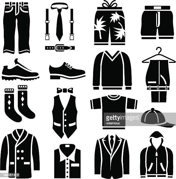 men's clothing icons - sweater stock illustrations, clip art, cartoons, & icons