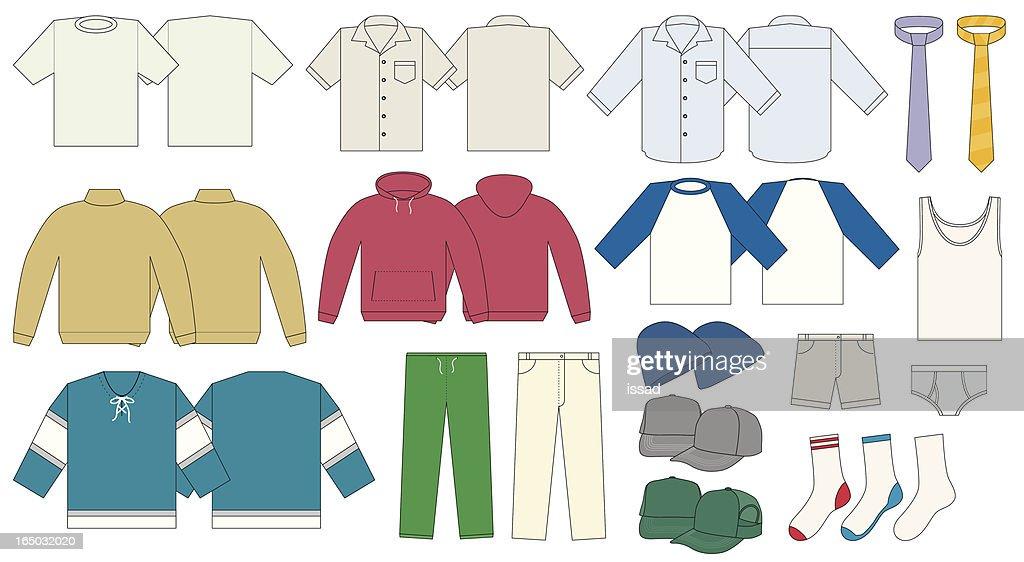 Men's Clothing Template - Vector