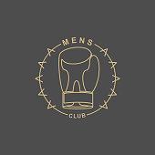 Mens Club logo. Emblem for  sports club for men.