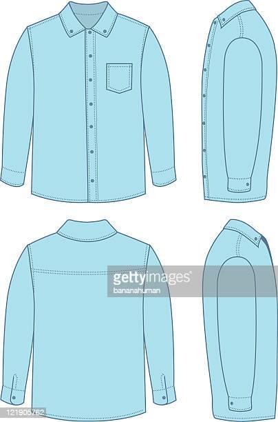 herren-anzughemd - langärmlig stock-grafiken, -clipart, -cartoons und -symbole