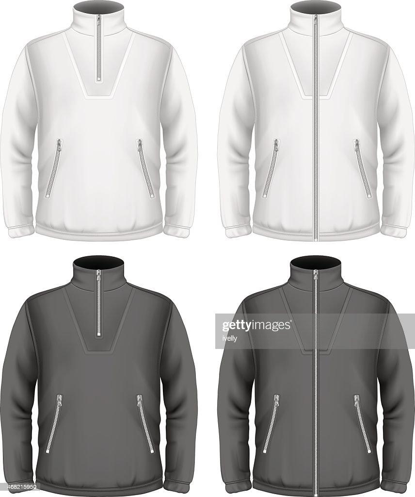 Men's fleece sweater design templates
