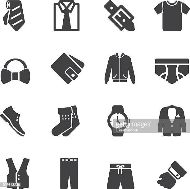 Mens Formal Wear Silhouette Icons | EPS10