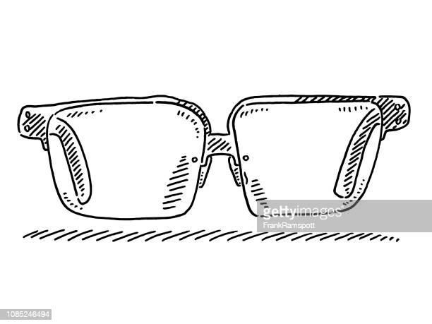 Herren Brille Zeichnung