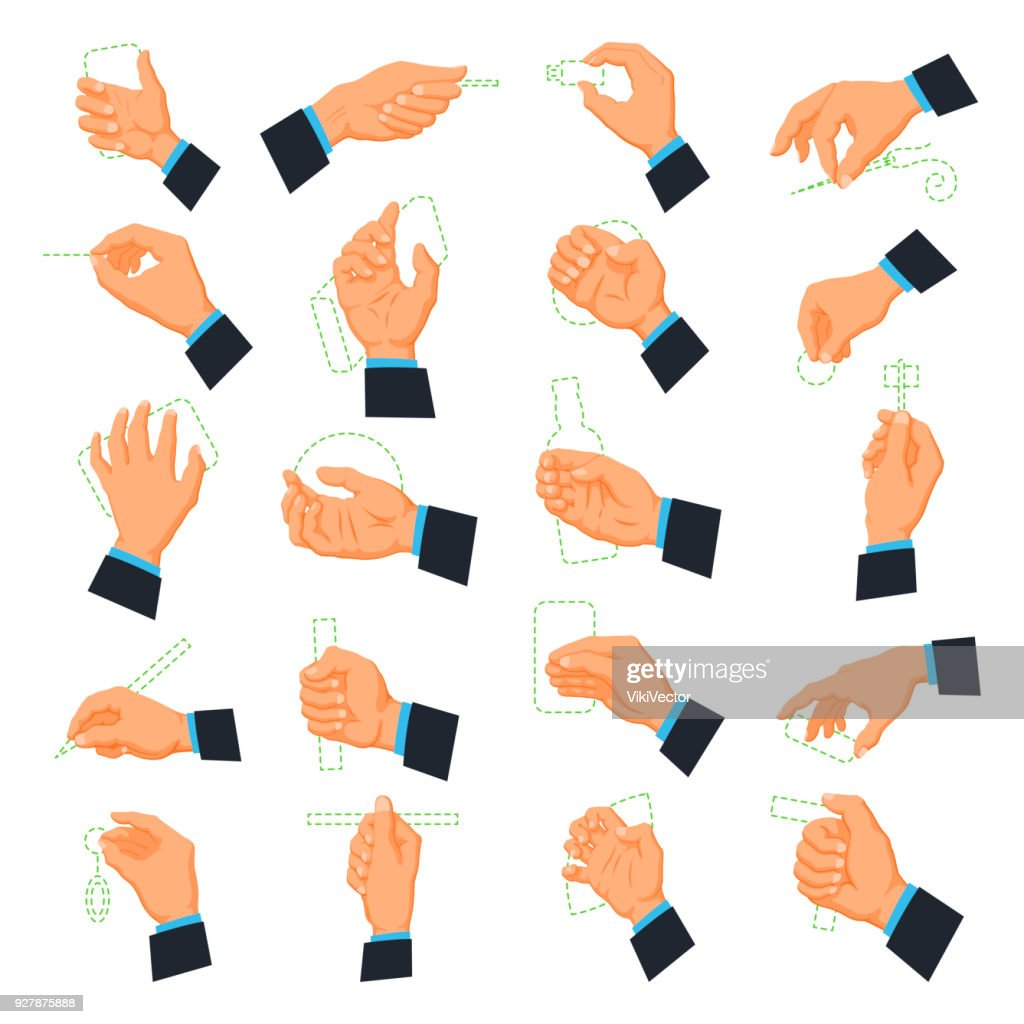 Mens hand icons