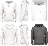 Men's hoodie design template
