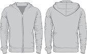 Men's hoodie shirts template