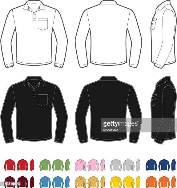 Men's polo shirt with long sleeve