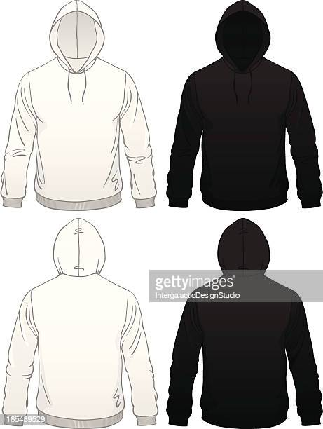 男子プルオーバーパーカー - スウェットシャツ点のイラスト素材/クリップアート素材/マンガ素材/アイコン素材