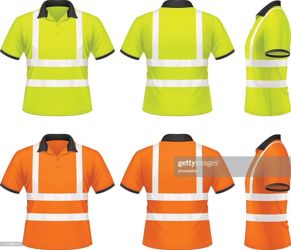 Mens Safety Polo Shirt Vector Art Getty Images