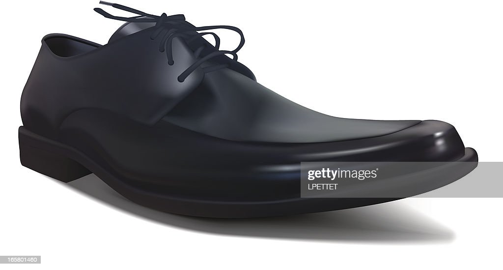 Mens Shoe - Vector Illustration : stock illustration