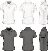 Men's short sleeve polo-shirt design templates.
