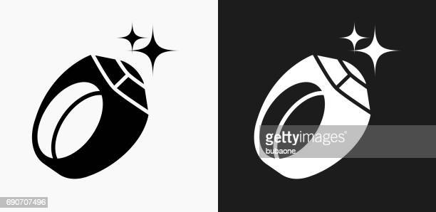 men's sports award ring icon on black and white vector backgrounds - sport set competition round stock illustrations