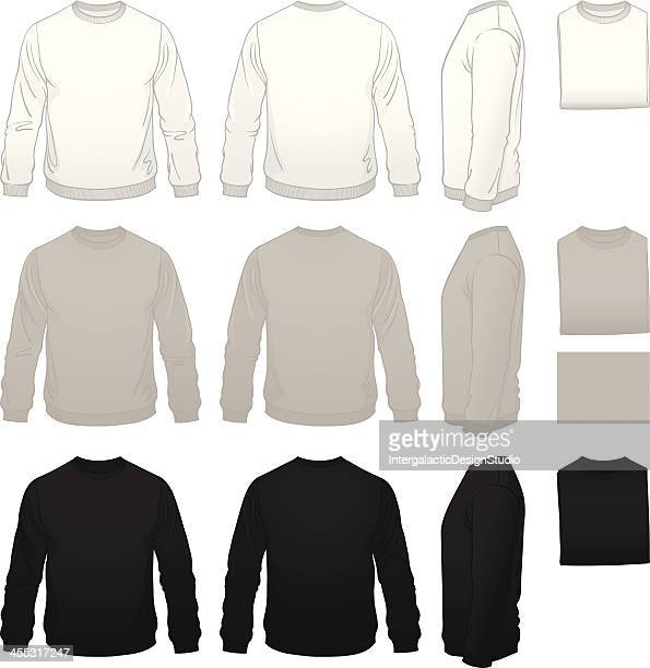 男子スェットシャツテンプレートパッケージ - スウェットシャツ点のイラスト素材/クリップアート素材/マンガ素材/アイコン素材