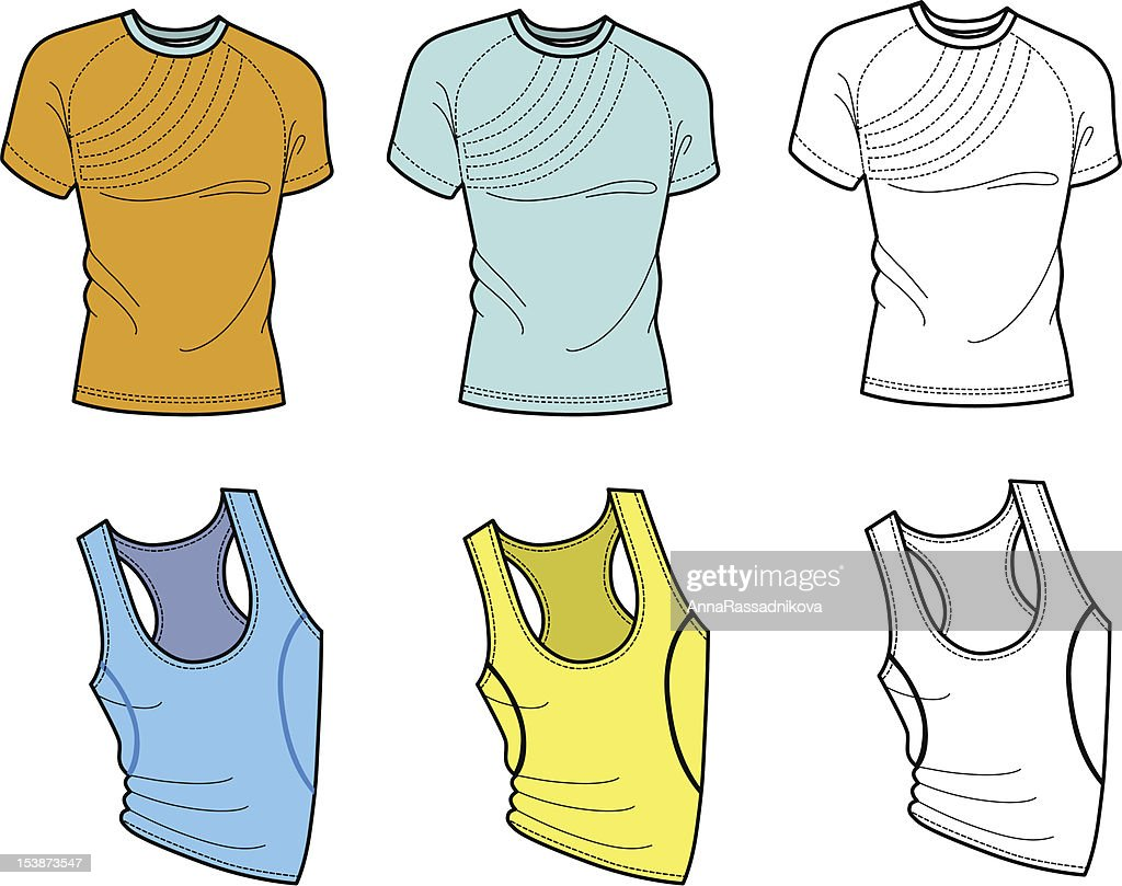 Men's t-shirt and football shirt