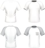 Men's t-shirt design template with pocket
